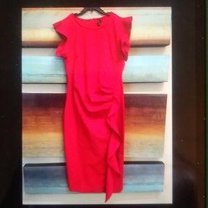 🍒🍓New Miusol Red Body Con Ruffle Dress